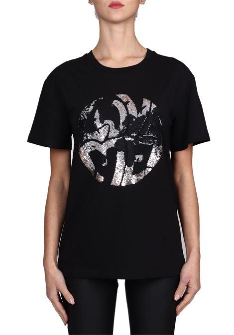 T-SHIRT NERA LOVE ME IN COTONE ALBERTA FERRETTI | T-shirt | J070316721555