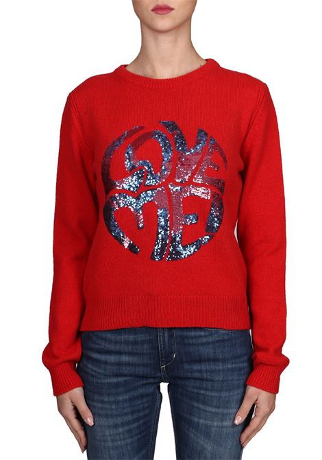 RED JERSEY LOVE ME IN CASHMERE ALBERTA FERRETTI | Sweaters | J09441603114