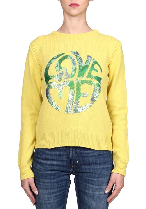 YELLOW JERSEY LOVE ME IN CASHMERE ALBERTA FERRETTI | Sweaters | J0944160327