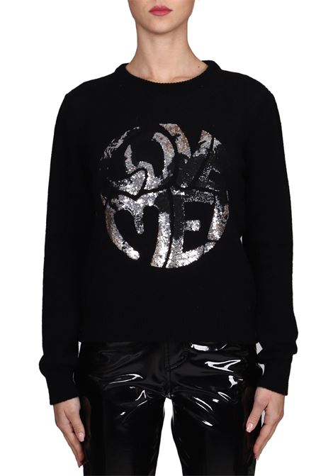 BLACK JERSEY LOVE ME IN CASHMERE ALBERTA FERRETTI | Sweaters | J09441603555