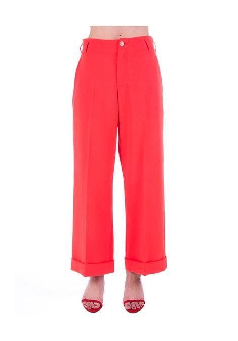 RED PANTS CADI 'C / TURNED UP ALYSI | Pants | 100113P0022GERANIO
