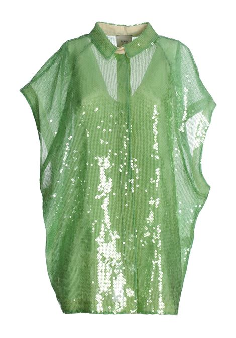 GREEN FULL PAILLETTES SHIRT ALYSI   Shirts   100203P0239PIST