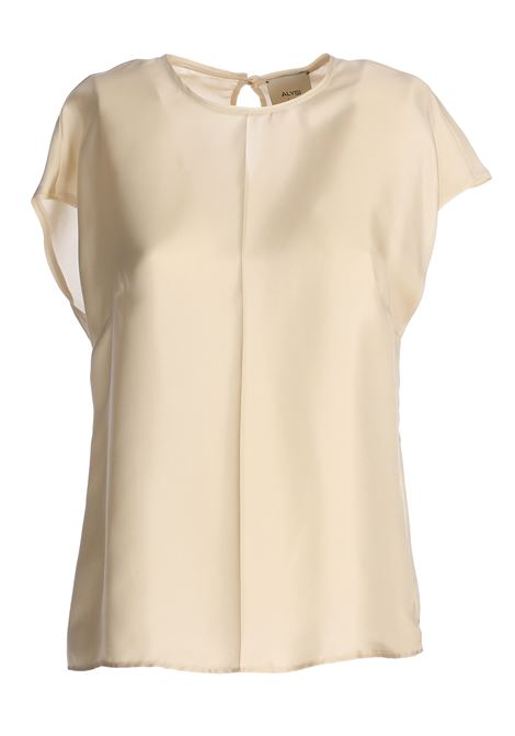WHITE SILK TWILL BLOUSE ALYSI | Blouse | 100279P0249LATTE