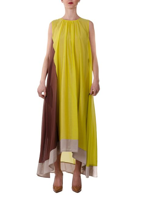 MULTICOLOR WASHED VOILE DRESS IN COTTON BLEND ALYSI | Dress | 100333P0006MIX
