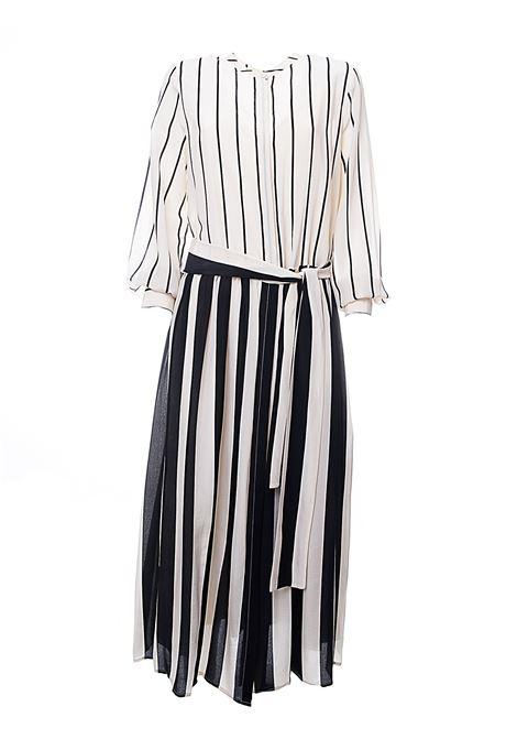 STRIP & STRIPES SILK DRESS WITH STRIPED FANTASY ALYSI | Dress | 100361P0041PANNA