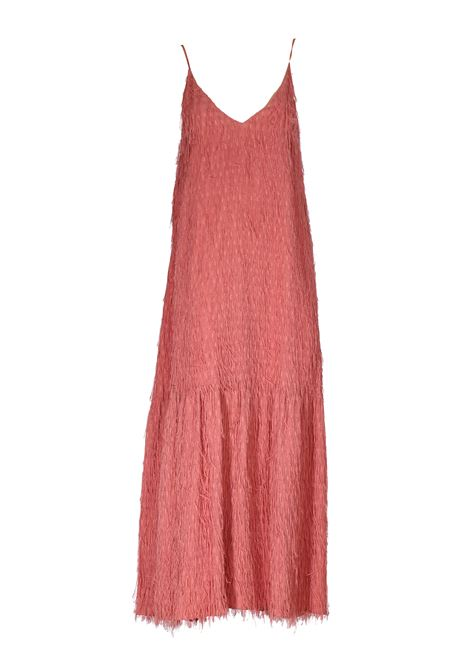LONG PINK DRESS WITH FRINGES FIL COUPE ' ALYSI | Dress | 100513P0229FARD