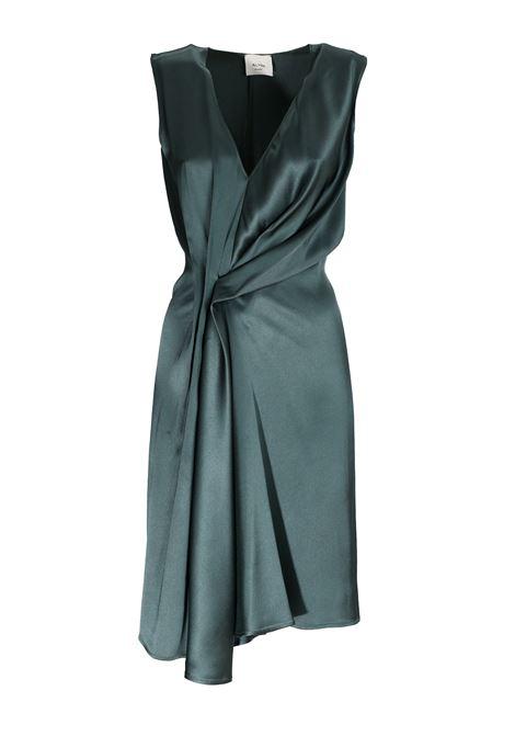 GREEN EMERALD SATIN DRESS ALYSI | Dress | 100536P0219LAGO