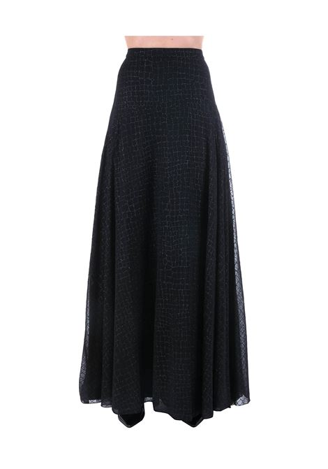 BLACK SKIRT WITH LUREX DETAILS BOUTIQUE MOSCHINO | Skirts | 010311391555