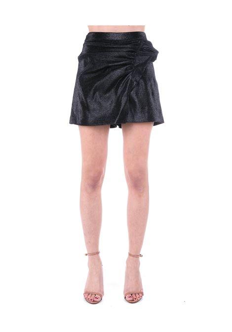 SHORT NERO CON RUCHES IN MISTO COTONE BOUTIQUE MOSCHINO | Shorts | 030111170555