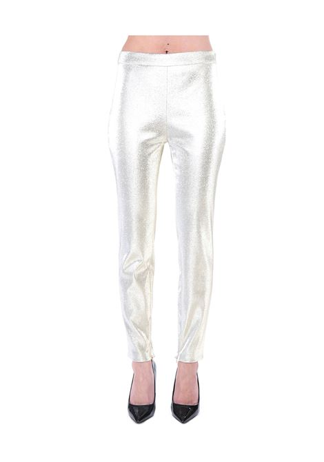 METAL-EFFECT SLIM GOLD PANTS BOUTIQUE MOSCHINO | Pants | 031811170606