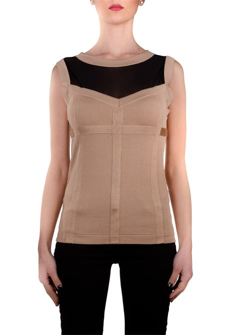 TOP BEIGE STRETCH BOUTIQUE MOSCHINO | Sweaters | 08811103A0018
