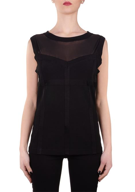TOP BLACK STRETCH  BOUTIQUE MOSCHINO | Sweaters | 08811103A0555