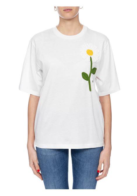 T-SHIRT BIANCA CON RICAMO BOUTIQUE MOSCHINO | T-shirt | 120408404001