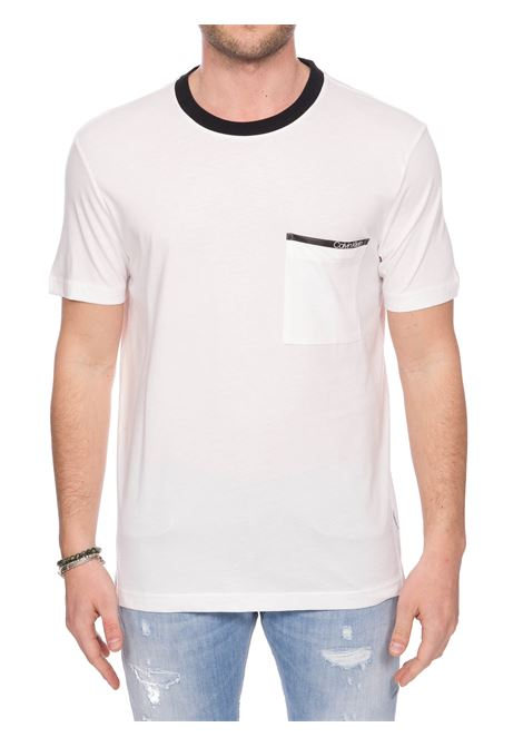 WHITE COTTON T-SHIRT WITH FRONT POCKET CALVIN KLEIN | T-shirt | K10K105172YBS