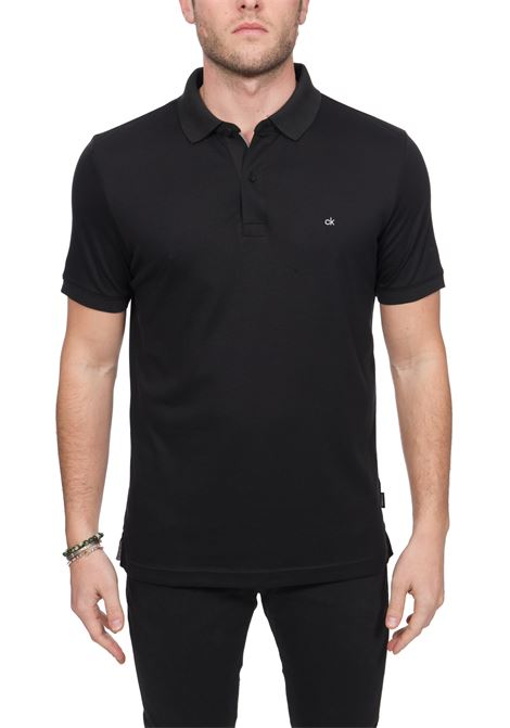 POLO NERA SOFT INTERLOCK IN COTONE CALVIN KLEIN | Polo | K10K105182BDS