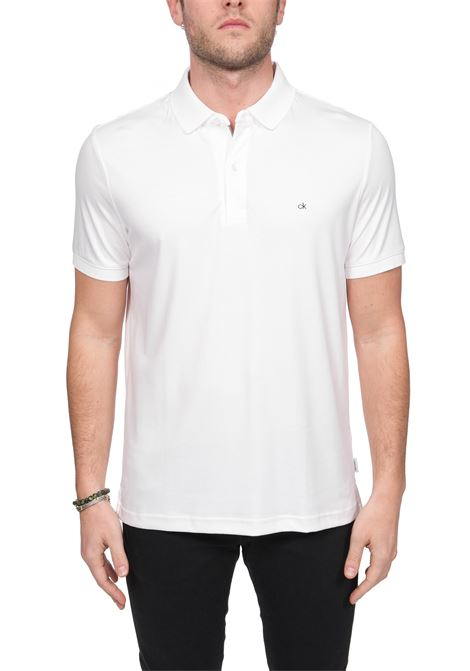 POLO BIANCA SOFT INTERLOCK IN COTONE CALVIN KLEIN | Polo | K10K105182YBS