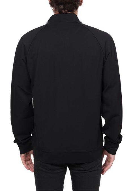 BLACK SWEATSHIRT WITH FRONT LOGO PRINT CALVIN KLEIN | Sweatshirts | K10K106008BDS