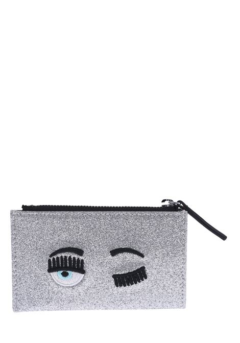 GLITTER FLIRTING SILVER CARD HOLDER CHIARA FERRAGNI | Card Holder | CFCDH001ARGENTO