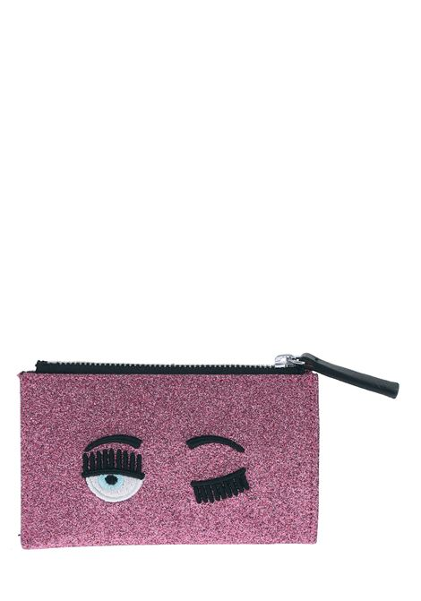 GLITTER FLIRTING PINK CARD HOLDER CHIARA FERRAGNI | Card Holder | CFCDH001ROSA