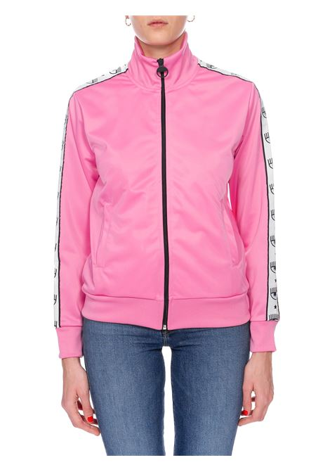 PINK LOGOMANIA SWEATSHIRT CHIARA FERRAGNI | Sweatshirts | CFF115ROSA