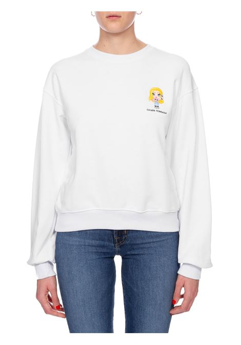WHITE SWEATSHIRT CF MASCOTTE CHIARA FERRAGNI | Sweatshirts | CFF119BIANCO