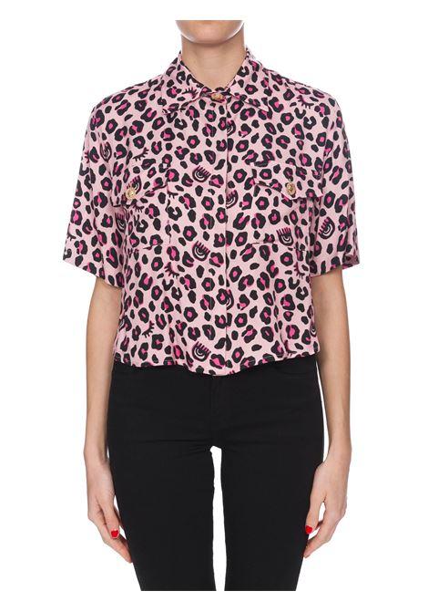 SHIRT IN LEOPARD CROP PRINT CHIARA FERRAGNI | Shirts | CFSH028ROSA