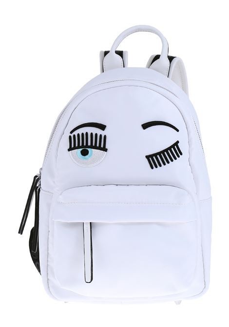 SMALL WHITE FLIRTING BACKPACK CHIARA FERRAGNI | Backpacks | CFZ068BIANCO