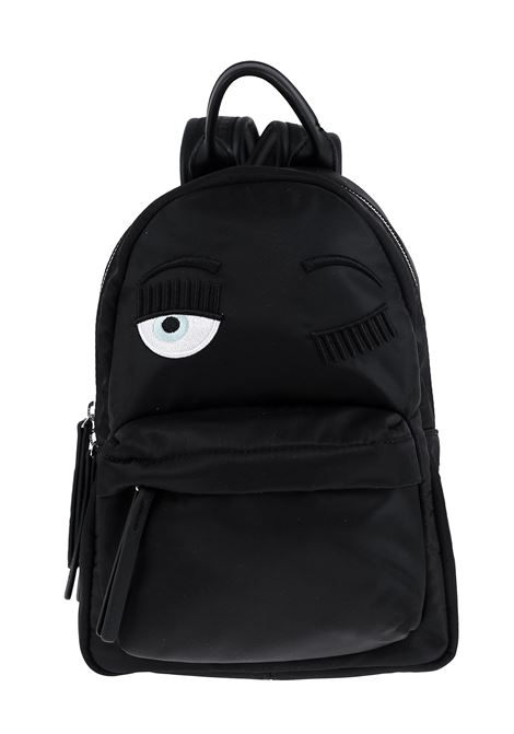 SMALL BLACK FLIRTING BACKPACK CHIARA FERRAGNI | Backpacks | CFZ068NERO
