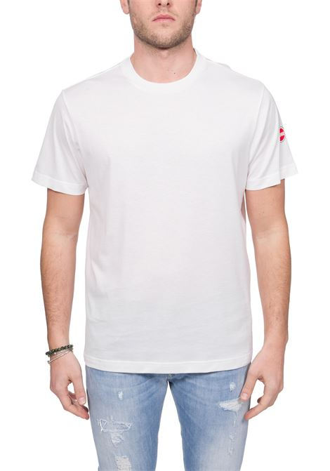 WHITE COTTON T-SHIRT WITH LOGO APPLICATION COLMAR | T-shirt | 7520BOARD6SS01