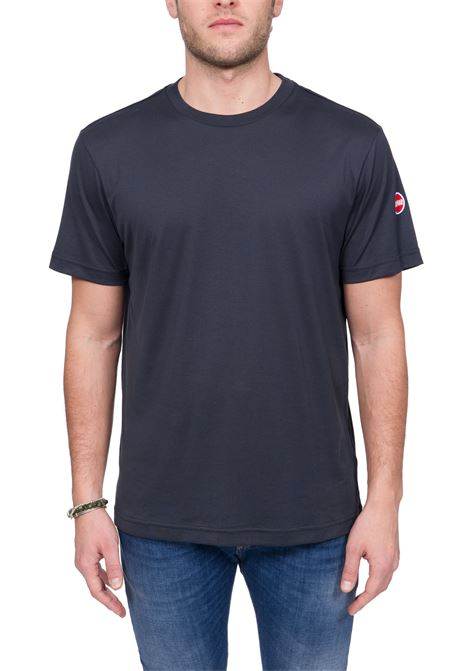 BLUE COTTON T-SHIRT WITH LOGO APPLICATION COLMAR | T-shirt | 7520BOARD6SS68