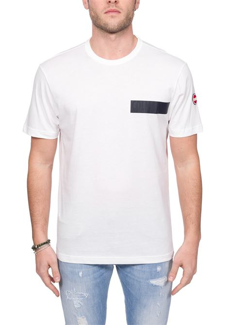 WHITE COTTON T-SHIRT WITH LOGO APPLICATION COLMAR | T-shirt | 7561FRIDA6SH01