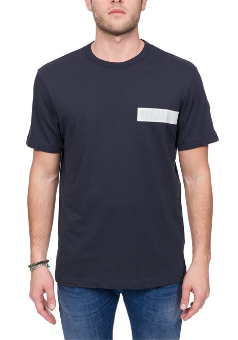 BLUE COTTON T-SHIRT WITH LOGO APPLICATION COLMAR | T-shirt | 7561FRIDA6SH68