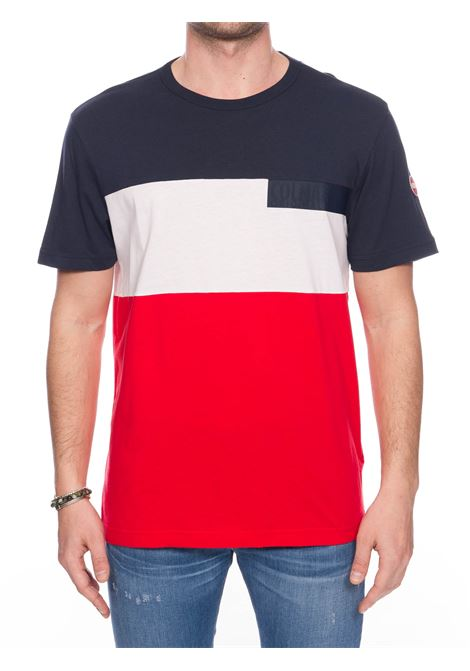 MULTICOLOR COTTON T-SHIRT WITH FRONT LOGO APPLICATION COLMAR | T-shirt | 7563FRIDA6SH193