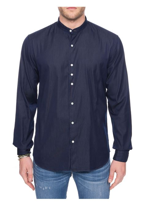 CAMICIA BLU DOMENICO IN COTONE DENIM COSTUMEIN | Camicie | O19DOMENICO5GABONSS