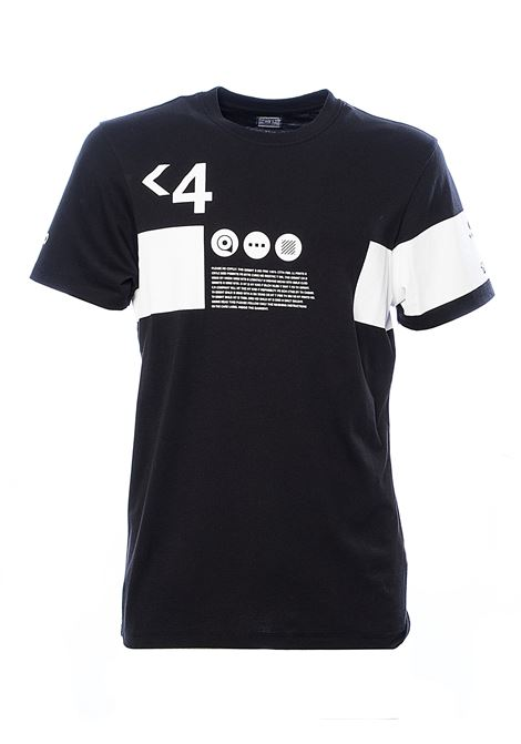 BLACK COTTON T-SHIRT WITH FRONT PRINTS C.P. COMPANY | T-shirt | 08CMTS170A005679W999