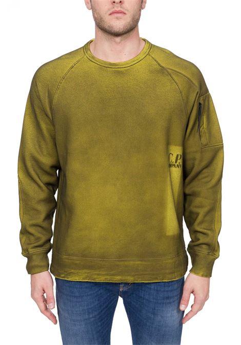 YELLOW SWEATSHIRT IN HAND SPRAYED MEDIUM WEIGHT COTTON C.P. COMPANY   Sweatshirts   MSS327A00V02