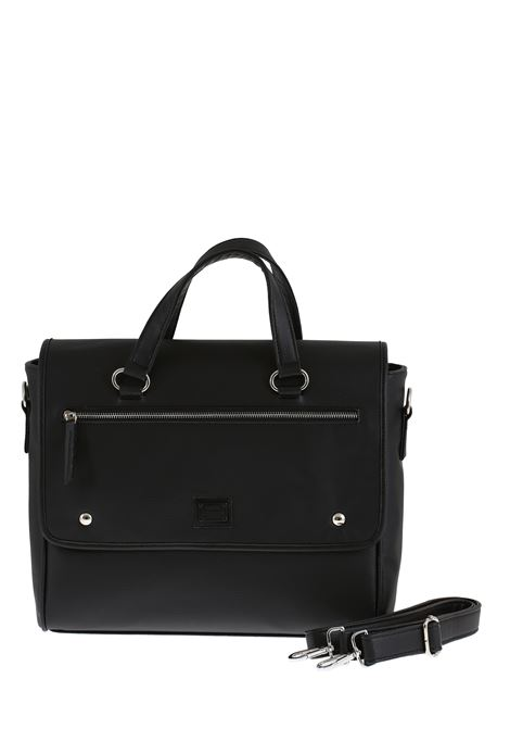 BLACK FAUX LEATHER BAG DANIELE ALESSANDRINI | Bags | B30840001