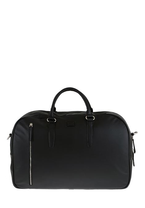 BLACK FAUX LEATHER BAG DANIELE ALESSANDRINI |  | B31140001