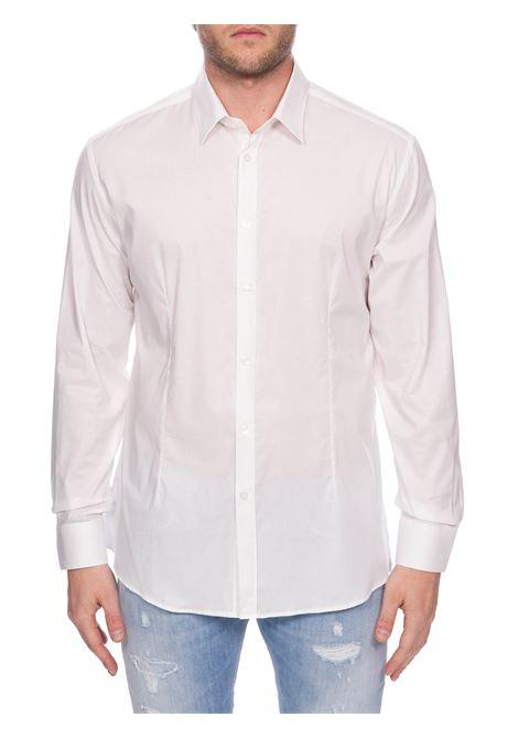 WHITE COTTON POPLIN SHIRT DANIELE ALESSANDRINI | Shirts | C1507B75140002