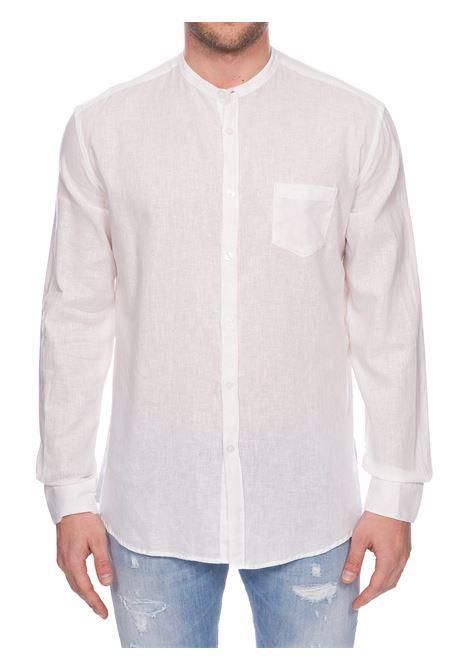 WHITE LINEN AND COTTON SHIRT DANIELE ALESSANDRINI | Shirts | C1578B118440002