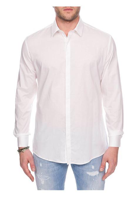 WHITE COTTON POPLIN SHIRT DANIELE ALESSANDRINI | Shirts | C1779B75140002