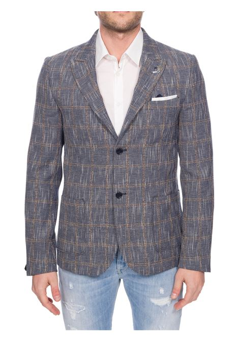 MULTICOLOR SINGLE-BREASTED TIDE JACKET IN COTTON AND LINEN DANIELE ALESSANDRINI | Jackets | G3124S2281400023