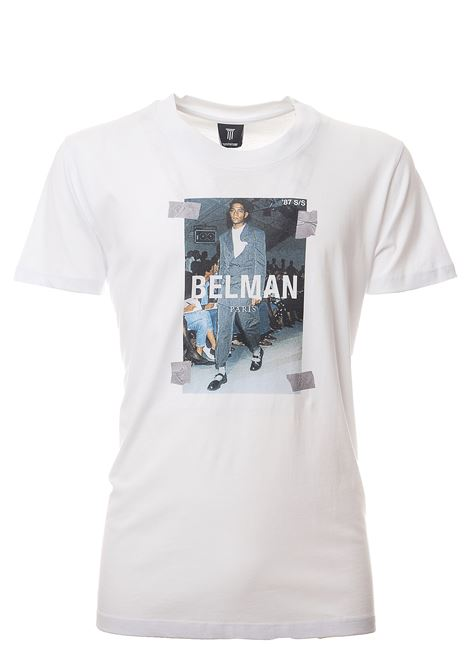 WHITE COTTON T-SHIRT WITH BELMAN PRINT DIEGO VENTURINO | T-shirt | TSBACD3S0MATBIANCO