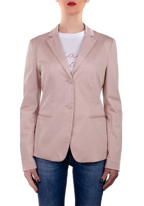 SINGLE-BREASTED PINK COTTON JACKET DONDUP | Jackets | DJ067RSE036PTDDDS20517