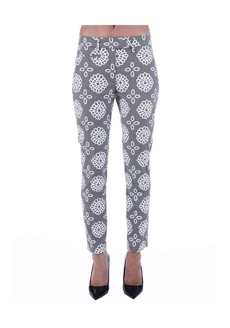 PERFECT PANTS WITH GEOMETRIC PATTERN DONDUP | Pants | DP066FS0214002DDS20000