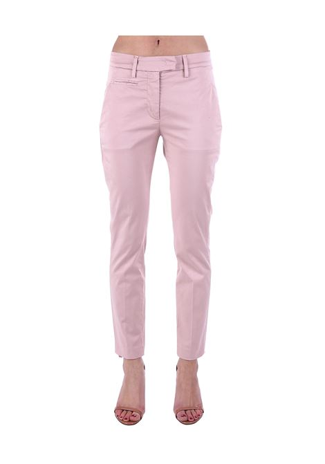 PINK PERFECT COTTON PANTS DONDUP | Pants | DP066RSE036PTDDDS20517