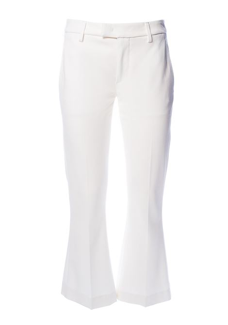 WHITE BENEDICTE TROUSERS DONDUP | Pants | DP391JS0238XXXDDS20000