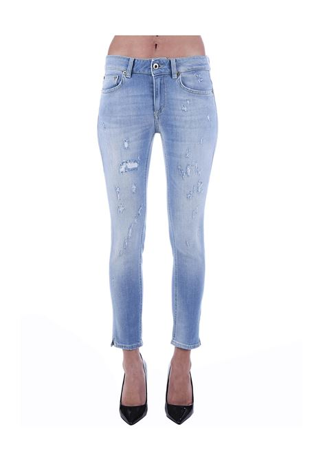 JEANS NEWDIA CROPPED SLIM FIT IN COTONE DONDUP | Jeans | DP405DS0268AB7DDS20800