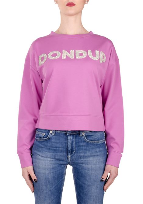 PINK SWEATSHIRT WITH FRONT LOGO APPLICATION DONDUP | Sweatshirts | F197KS0020ZA2DDS20564