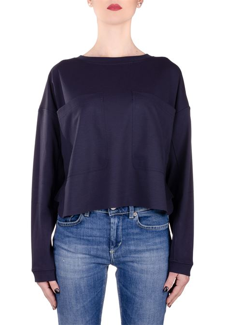 BLUE SWEATSHIRT WITH FLARED BOTTOM DONDUP | Sweatshirts | F201KS0020XXXDDS20897